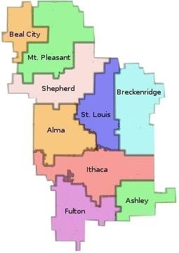 GIRESD Local Districts Map
